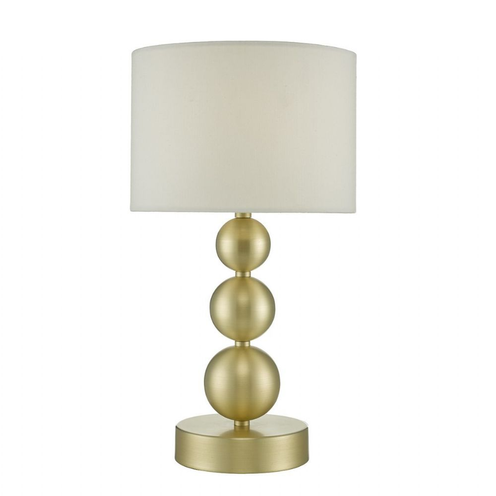 Paige Table Lamp Brushed Gold complete with Shade Touch (Class 2 Double Insulated) BXPAI4235-17